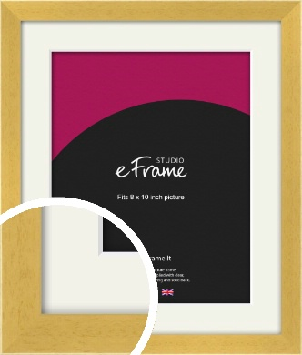 Scandi Natural Wood Picture Frame & Mount, 8x10