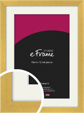 Scandi Natural Wood Picture Frame & Mount, 8x12