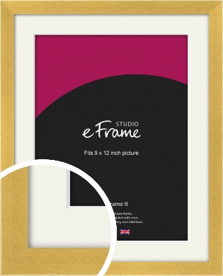 Scandi Natural Wood Picture Frame & Mount, 9x12