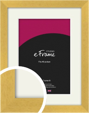 Scandi Natural Wood Picture Frame & Mount, A5 (148x210mm) (VRMP-154-M-A5)