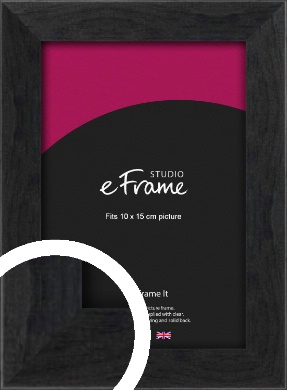 Faded Black Picture Frame, 10x15cm (4x6