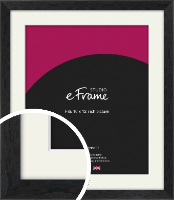 Faded Black Picture Frame & Mount, 10x12