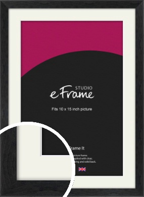 Faded Black Picture Frame & Mount, 10x15