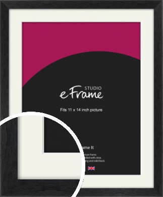 Faded Black Picture Frame & Mount, 11x14