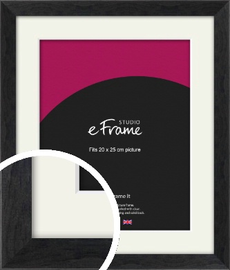 Faded Black Picture Frame & Mount, 20x25cm (8x10