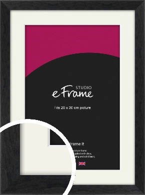 Faded Black Picture Frame & Mount, 20x30cm (8x12