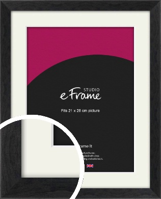 Faded Black Picture Frame & Mount, 21x28cm (VRMP-221-M-21x28cm)