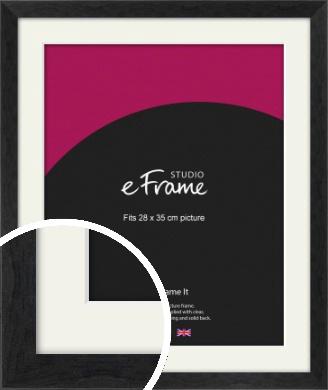 Faded Black Picture Frame & Mount, 28x35cm (VRMP-221-M-28x35cm)