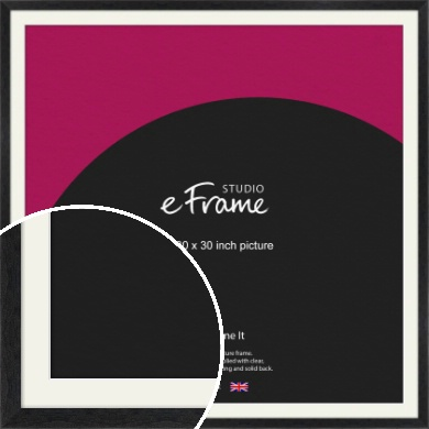 Faded Black Picture Frame & Mount, 30x30