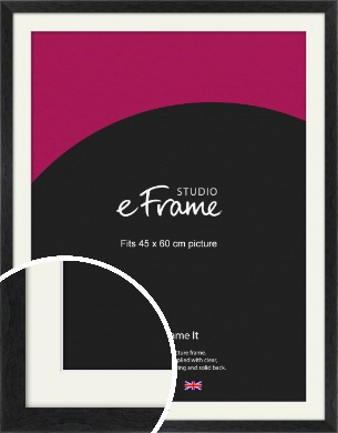 Faded Black Picture Frame & Mount, 45x60cm (VRMP-221-M-45x60cm)