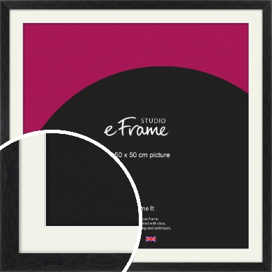 Faded Black Picture Frame & Mount, 50x50cm (VRMP-221-M-50x50cm)