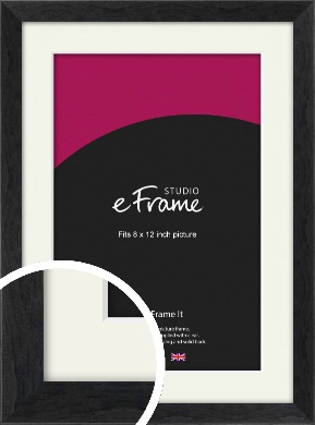 Faded Black Picture Frame & Mount, 8x12