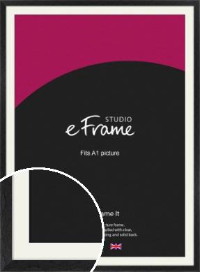 Faded Black Picture Frame & Mount, A1 (594x841mm) (VRMP-221-M-A1)