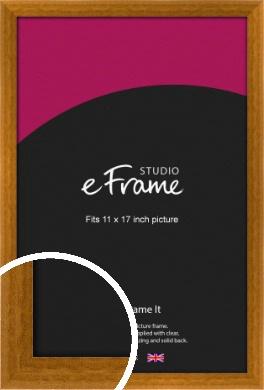 Teak Brown Picture Frame, 11x17