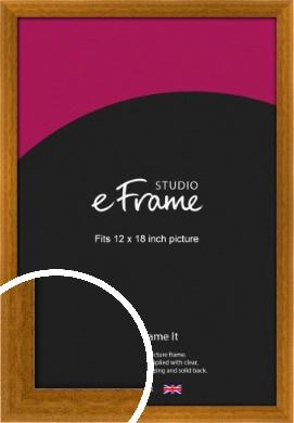 Teak Brown Picture Frame, 12x18