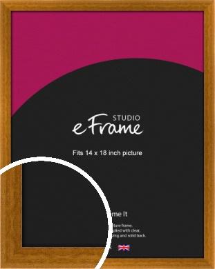 Teak Brown Picture Frame, 14x18