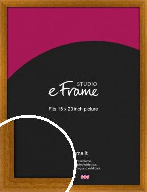 Teak Brown Picture Frame, 15x20