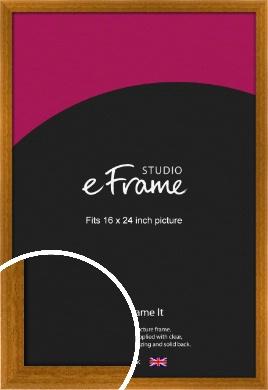 Teak Brown Picture Frame, 16x24