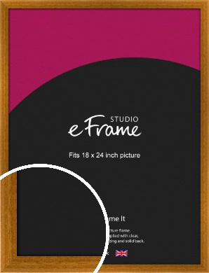Teak Brown Picture Frame, 18x24