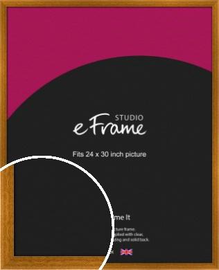 Teak Brown Picture Frame, 24x30