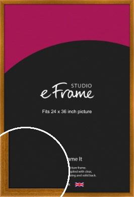 Teak Brown Picture Frame, 24x36