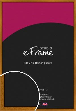 Teak Brown Picture Frame, 27x40