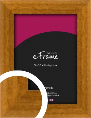 Teak Brown Picture Frame, 3.5x5