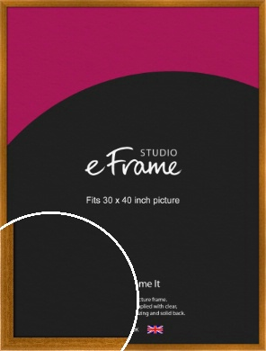 Teak Brown Picture Frame, 30x40