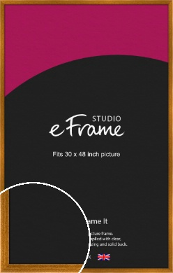 Teak Brown Picture Frame, 30x48