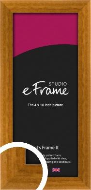 Teak Brown Picture Frame, 4x10