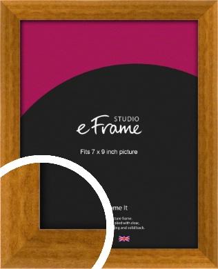 Teak Brown Picture Frame, 7x9