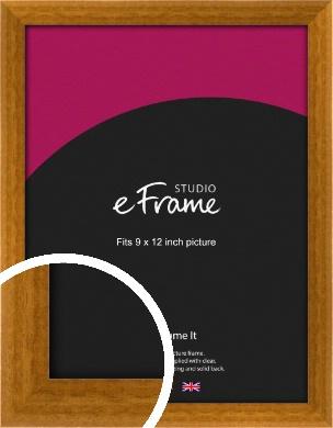 Teak Brown Picture Frame, 9x12