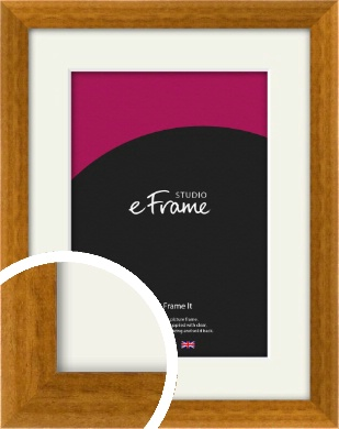 Teak Brown Picture Frame & Mount (VRMP-173-M)