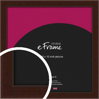 American Walnut Effect Brown Picture Frame, 10x10