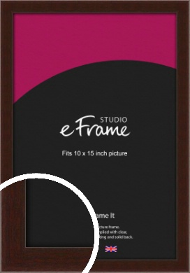 American Walnut Effect Brown Picture Frame, 10x15