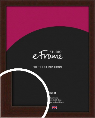 American Walnut Effect Brown Picture Frame, 11x14