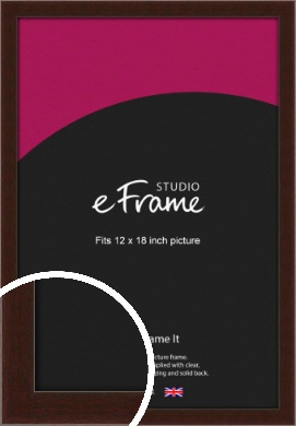 American Walnut Effect Brown Picture Frame, 12x18