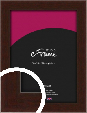 American Walnut Effect Brown Picture Frame, 13x18cm (5x7