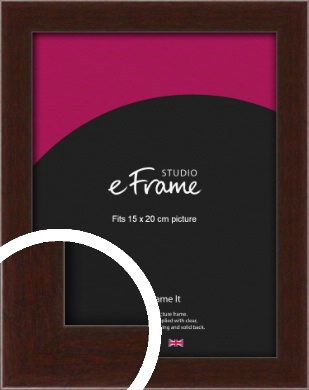 American Walnut Effect Brown Picture Frame, 15x20cm (6x8