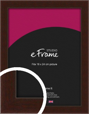 American Walnut Effect Brown Picture Frame, 18x24cm (VRMP-222-18x24cm)