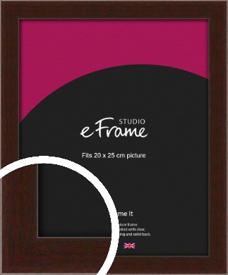 American Walnut Effect Brown Picture Frame, 20x25cm (8x10