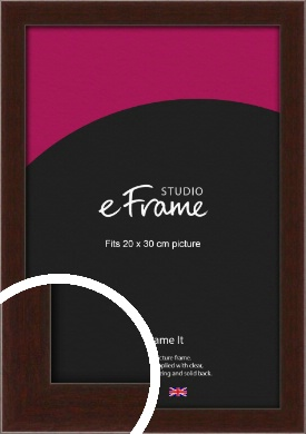 American Walnut Effect Brown Picture Frame, 20x30cm (8x12