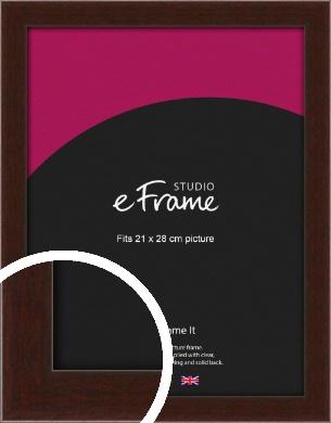 American Walnut Effect Brown Picture Frame, 21x28cm (VRMP-222-21x28cm)