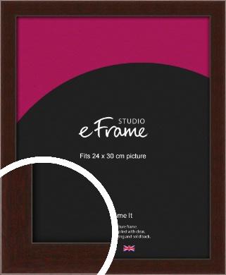 American Walnut Effect Brown Picture Frame, 24x30cm (VRMP-222-24x30cm)