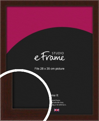American Walnut Effect Brown Picture Frame, 28x35cm (VRMP-222-28x35cm)