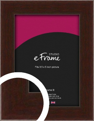 American Walnut Effect Brown Picture Frame, 3.5x5