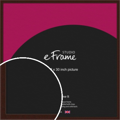 American Walnut Effect Brown Picture Frame, 30x30