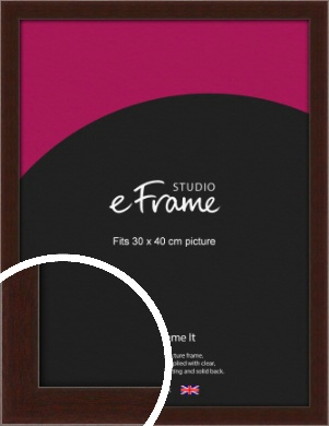 American Walnut Effect Brown Picture Frame, 30x40cm (VRMP-222-30x40cm)