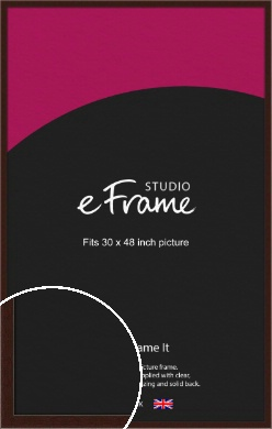 American Walnut Effect Brown Picture Frame, 30x48