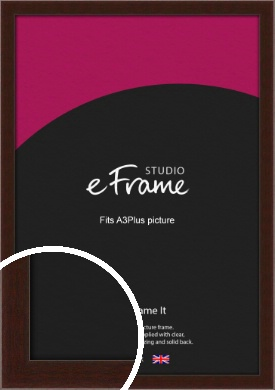 American Walnut Effect Brown Picture Frame, A3Plus (VRMP-222-329x483mm)